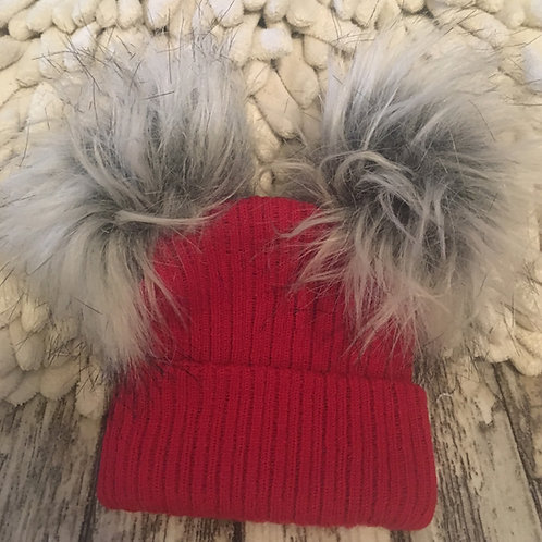 Red pom hat