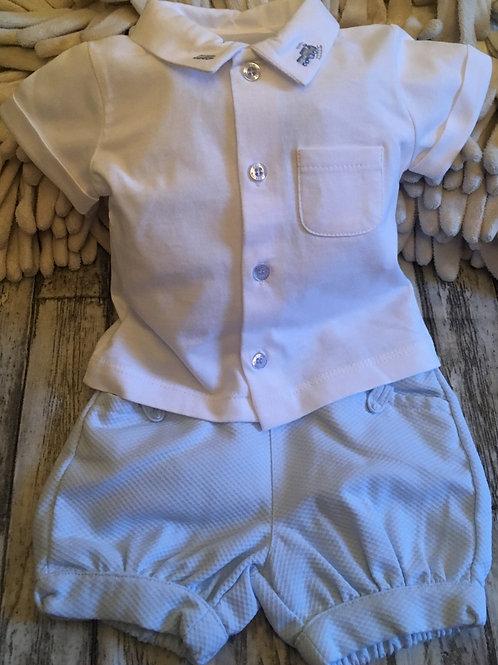white shirt and shorts