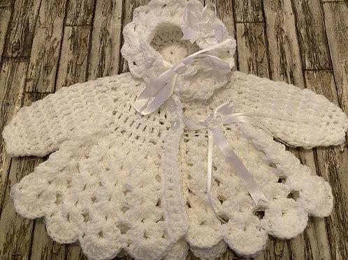 White handmade cardigan