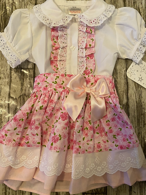 Floral Skirt and blouse set