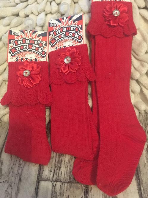 Red diamonti socks