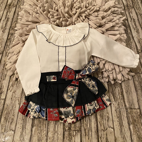 Floral romper with frilly bottoms