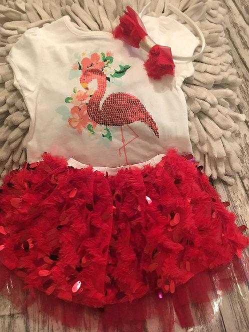 Red flamingo set