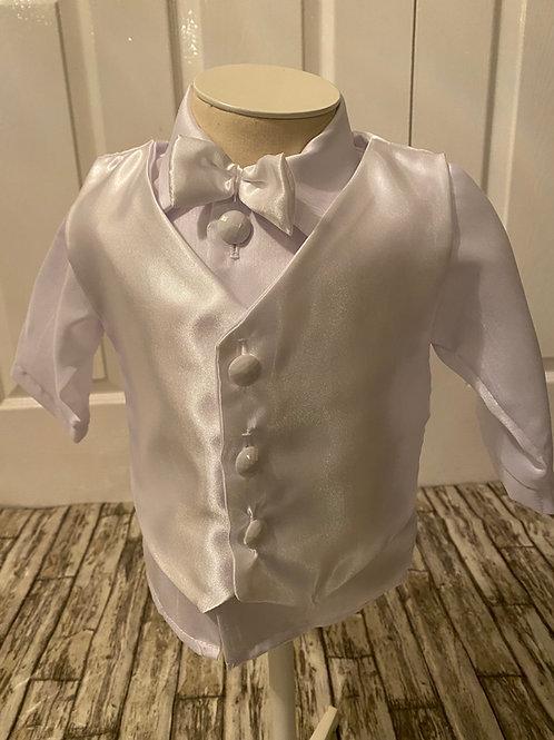 White christening suit