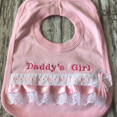 Daddy's girl frilly Bib