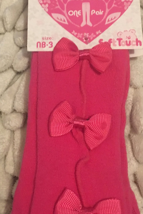 Deep pink tights