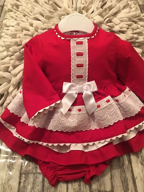 Red frilly dress (small sizes)