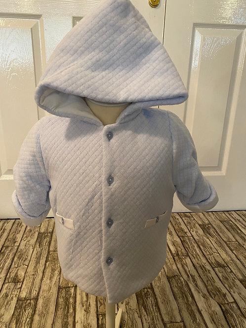 Blue soft-feel Coat