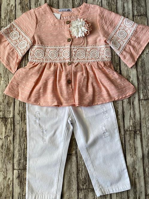 Pink short set