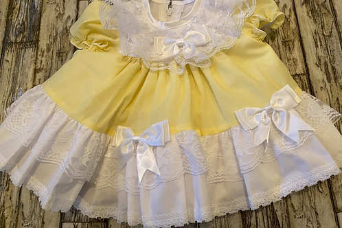 Lemon frilly dress