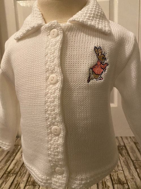White Peter rabbit cardigan