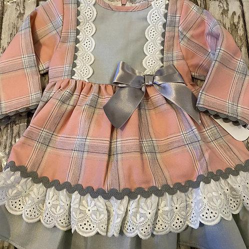 Rose and Grey Check dress