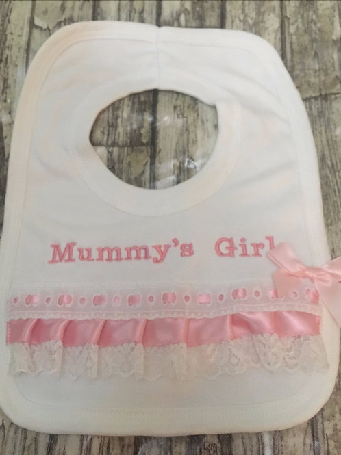 Mummy's girl frilly bib