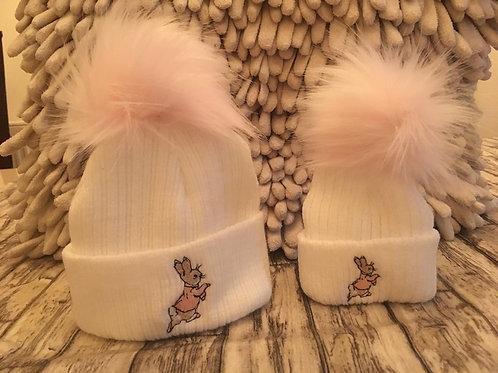 Pink beatrix potter hat