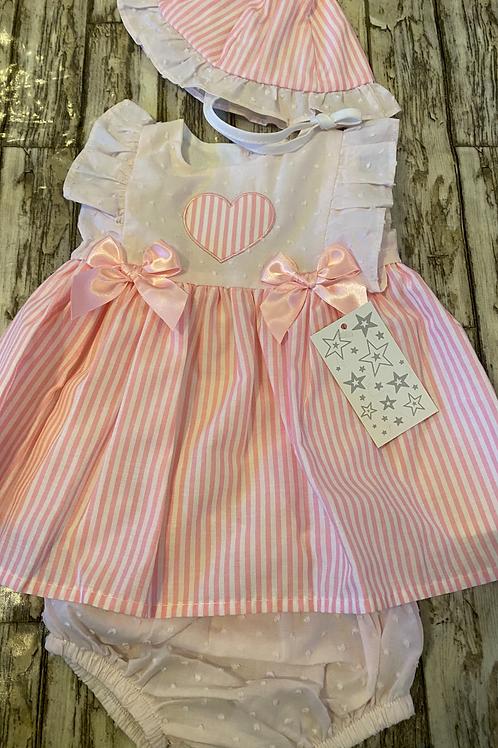 Pink candy striped dress