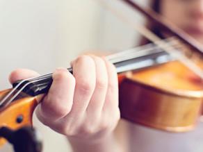 弦楽器、弦をきちんとあてられるか