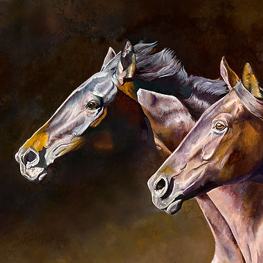 Trackhners fine art horse painting