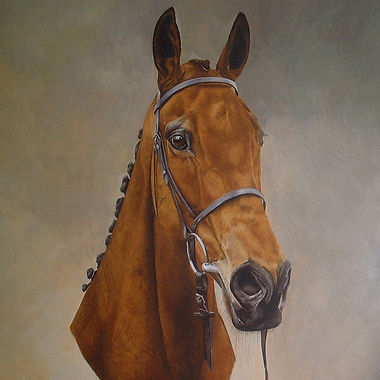 Torkinking thoroughbred racehorse fine art horse painting