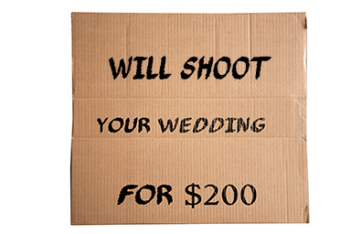 Hey Buddy! Can You Spare $200 for a Wedding Photographer?