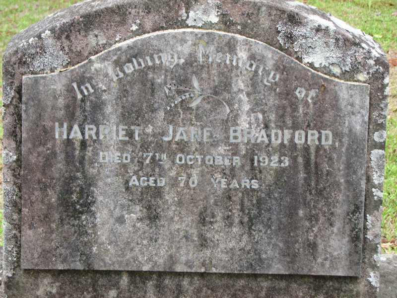 Harriett Jane Bradford St John's Gordon.