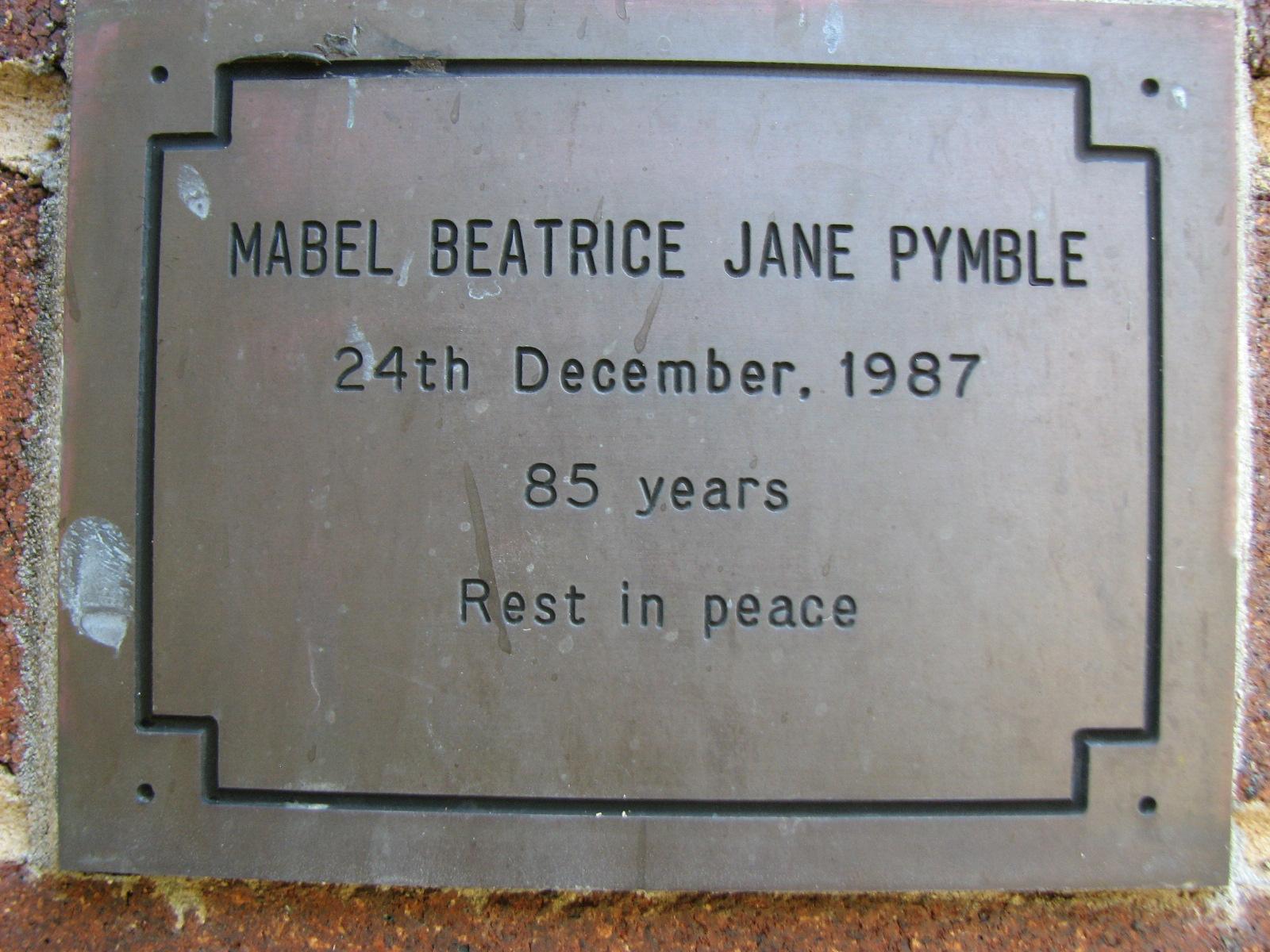 Mabel Pymble St john's Cemetery