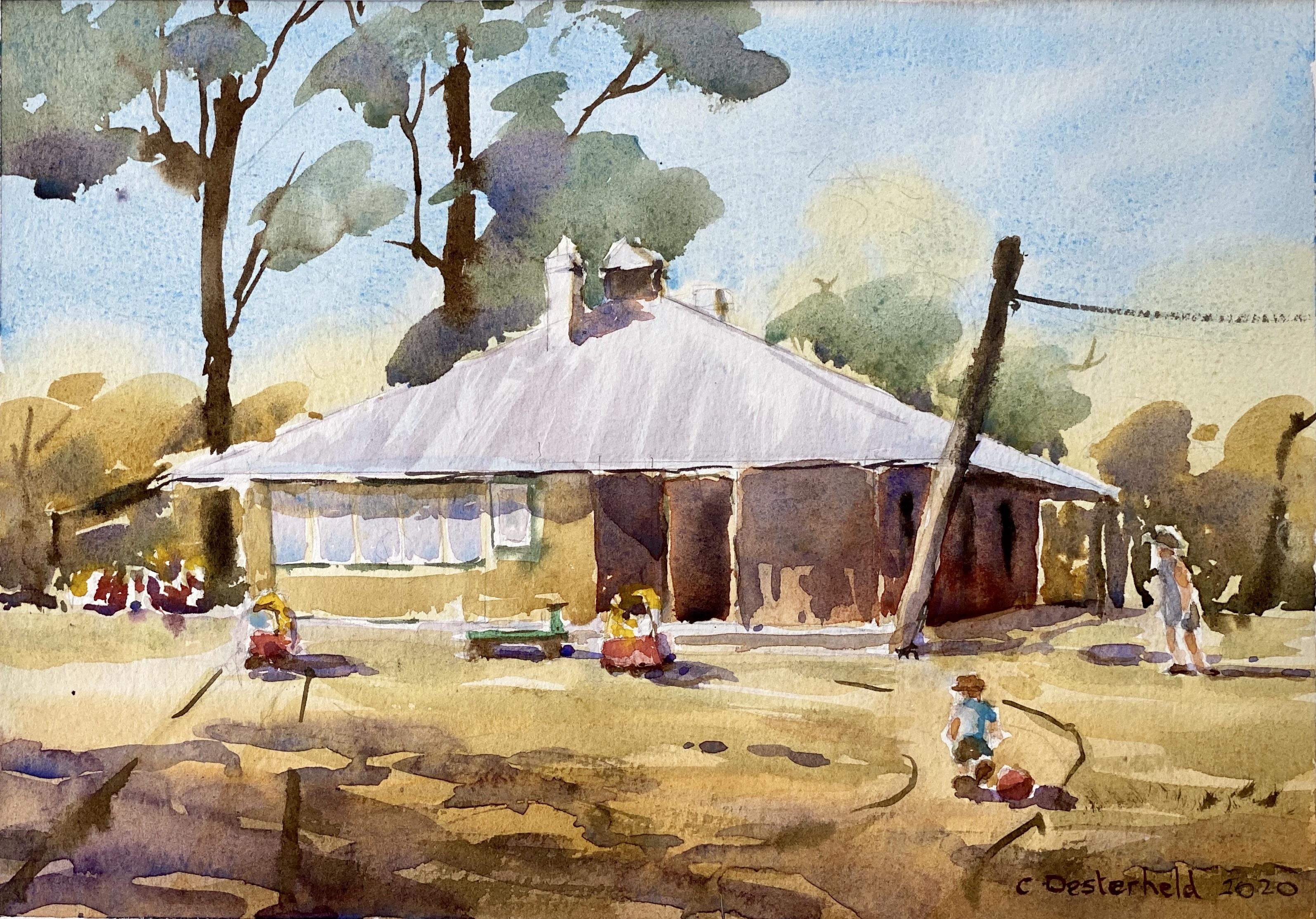 Caroline Oesterheld painting