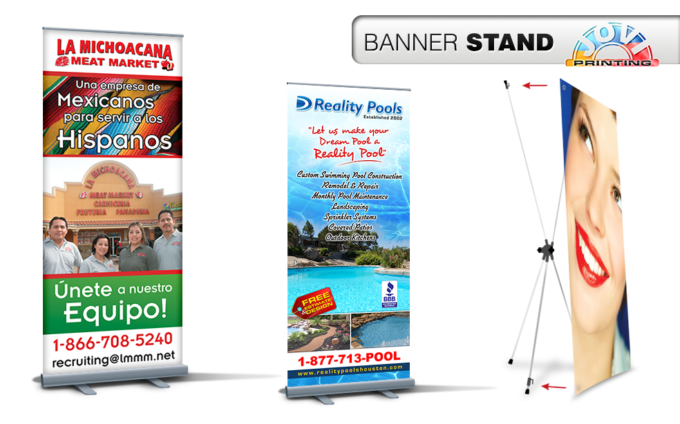 JOVI PRINTING | BANNER STAND | HOUSTON TEXAS