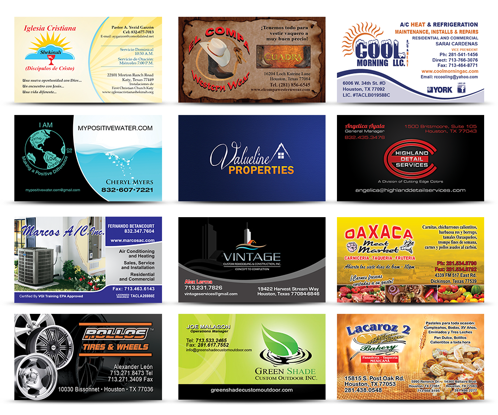 Business Cards | Jovi Printing | Printing Services | Houston Texas