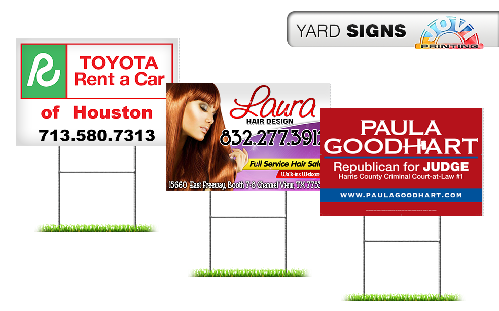 JOVI PRINTING | YARD SIGN DESIGN | HOUSTON TEXAS