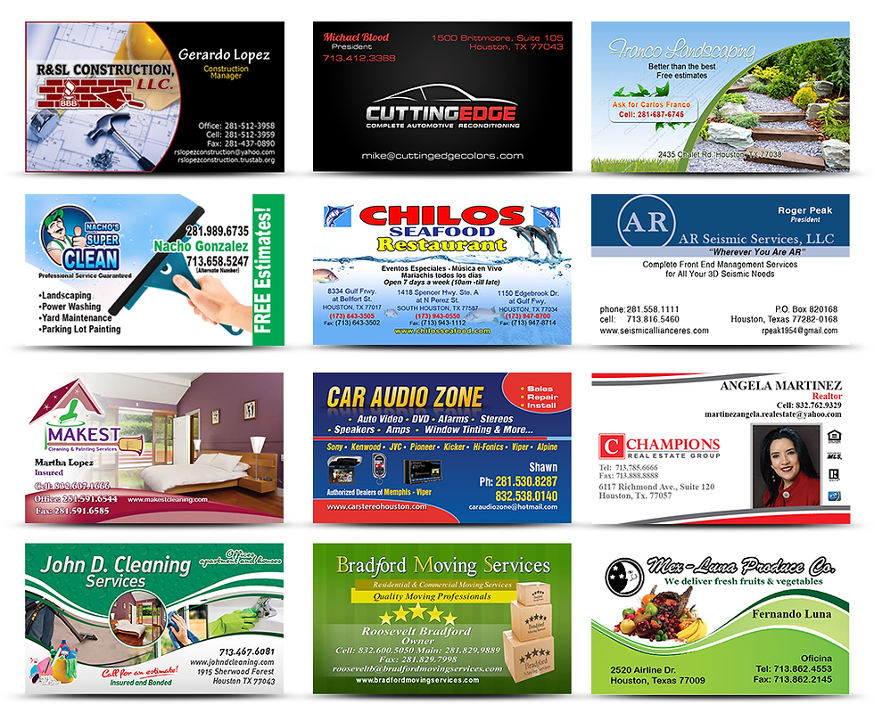 Business cards printing in houston texas reheart Images