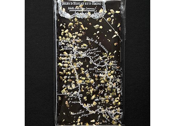 Tablette au chocolat noir et pistache
