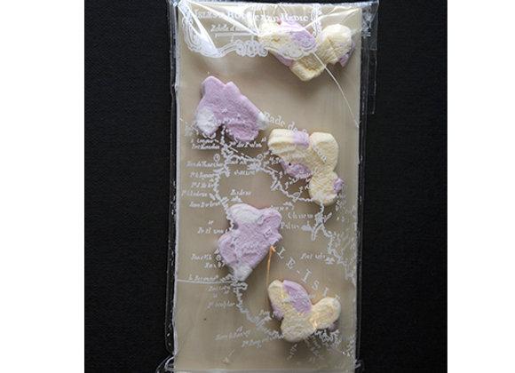 Tablette chocolat blanc et guimauves