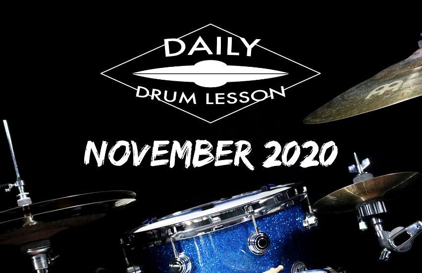 Daily Drum Lesson NOVEMBER 2020 PACK