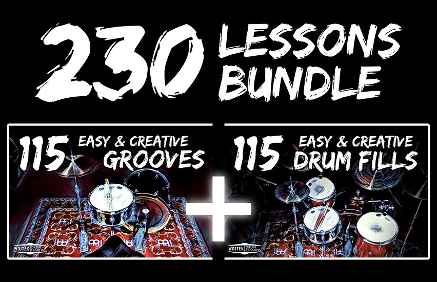 [PRODUCT BUNDLE] 230 Easy & Creative Grooves and Drum Fills