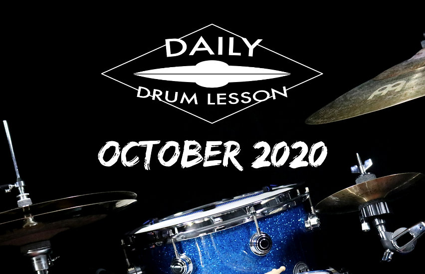 Daily Drum Lesson OCTOBER 2020 PACK