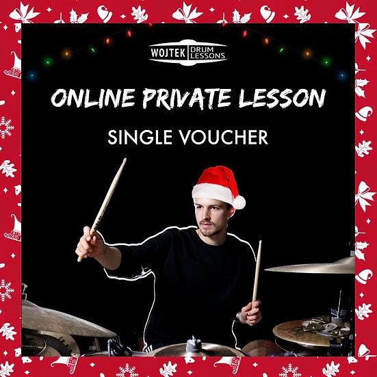 Christmas Voucher for single 60 min lesson