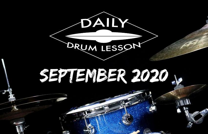 Daily Drum Lesson SEPTEMBER 2020 PACK