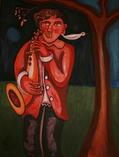 Saxophonist and Bird