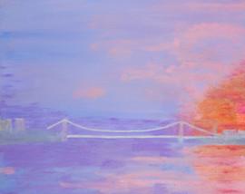 G Washington Bridge Sunrise