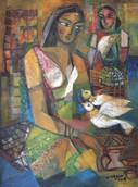 Women with Birds