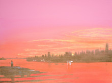 Sunrise over Hudson River