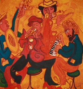Jazz Mayhem in a jazz bar