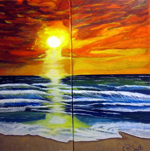 SUNSET ON THE SAND