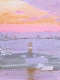 Sunrise Over the Hudson River