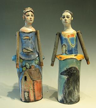 """""""Two Figures"""" Barbara Harnack"""
