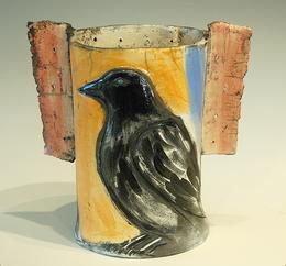 """""""Raven Vase"""" Barbara Harnack"""