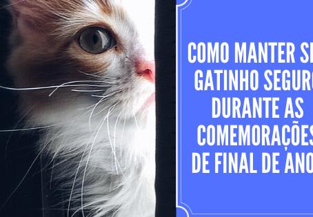 Como manter seu gatinho seguro durante as comemorações de final de ano?