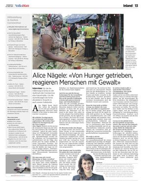 «Von Hunger getrieben, reagieren Menschen mit Gewalt»