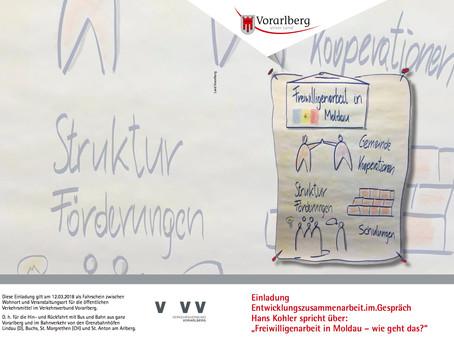 """Entwicklungszusammenarbeit im Gespräch, Hans Kohler spricht über: """"Freiwilligenarbeit in Moldau – wi"""
