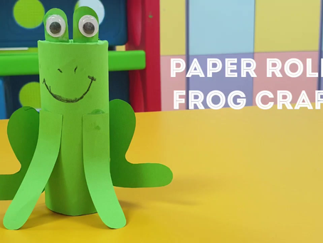 Paper Roll Frog Craft